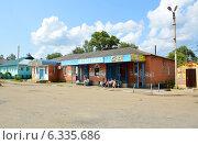 Автостанция в городе Борисоглебский (Ярославская область) (2014 год). Редакционное фото, фотограф Александр Замараев / Фотобанк Лори