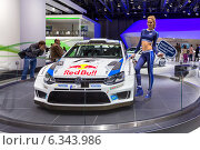 Купить «Volkswagen Polo R WRC. ММАС 2014», эксклюзивное фото № 6343986, снято 29 августа 2014 г. (c) Сергей Лаврентьев / Фотобанк Лори