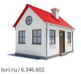 Домик с красной крышей, 3d, иллюстрация № 6346602 (c) Кирилл Черезов / Фотобанк Лори