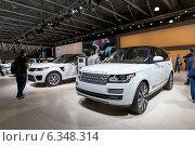 Купить «Range Rover. Московский международный автомобильный салон 2014», эксклюзивное фото № 6348314, снято 29 августа 2014 г. (c) Сергей Лаврентьев / Фотобанк Лори