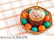 Купить «Пасхальные яйца. Пасхальный фон квадратный с пасхальными раскрашенными яйцами», фото № 6356678, снято 23 апреля 2011 г. (c) Елена Вяселева / Фотобанк Лори