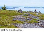 На вершине острова Немецкий Кузов архипелага Кузова в Белом море. Сейды. Стоковое фото, фотограф Staryh Luiba / Фотобанк Лори