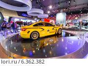 Купить «Lada Vesta WTCC Concept. Московский международный автомобильный салон 2014», эксклюзивное фото № 6362382, снято 29 августа 2014 г. (c) Сергей Лаврентьев / Фотобанк Лори