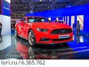 Купить «Ford Mustang. Московский международный автомобильный салон 2014», эксклюзивное фото № 6365762, снято 29 августа 2014 г. (c) Сергей Лаврентьев / Фотобанк Лори