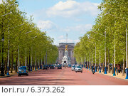 Купить «London circa 2009.Buckingham Palace viewed from Pall Mall on a spring day», фото № 6373262, снято 19 ноября 2019 г. (c) Ingram Publishing / Фотобанк Лори