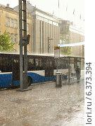 Купить «Проливной дождь и солнце. Тампере, Финляндия», фото № 6373394, снято 28 августа 2014 г. (c) Валерия Попова / Фотобанк Лори