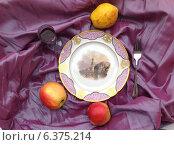Купить «Старинное блюдо с яблоками», фото № 6375214, снято 3 мая 2014 г. (c) Светлана Голубкова / Фотобанк Лори