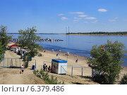 Купить «Городской пляж Волгограда», фото № 6379486, снято 23 июля 2014 г. (c) Aleksander Kaasik / Фотобанк Лори