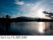Купить «Sunset of a lake», фото № 6385846, снято 18 октября 2018 г. (c) Ingram Publishing / Фотобанк Лори
