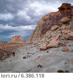 Sandstone cliffs, Utah, USA. Стоковое фото, агентство Ingram Publishing / Фотобанк Лори