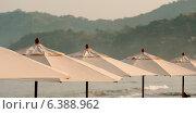 Купить «Beach umbrellas, Sayulita, Nayarit, Mexico», фото № 6388962, снято 23 января 2019 г. (c) Ingram Publishing / Фотобанк Лори