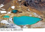 Купить «Emerald Lakes, Tongariro National Park, New Zealand», фото № 6389070, снято 21 августа 2018 г. (c) Ingram Publishing / Фотобанк Лори