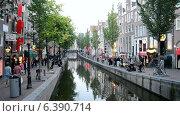 Купить «Амстердам, район Красных Фонарей», видеоролик № 6390714, снято 10 сентября 2014 г. (c) FMRU / Фотобанк Лори