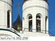 Купить «Колокольня храма Христа Спасителя. Калининград (до 1946 года Кёнигсберг), Россия», фото № 6392258, снято 28 августа 2012 г. (c) Сергей Трофименко / Фотобанк Лори