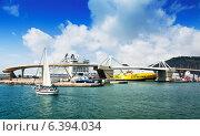 Купить «Cruiser terminals at Port of Barcelona», фото № 6394034, снято 6 июля 2014 г. (c) Яков Филимонов / Фотобанк Лори
