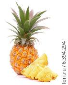 Купить «Pineapple tropical fruit or ananas», фото № 6394294, снято 7 июня 2013 г. (c) Natalja Stotika / Фотобанк Лори