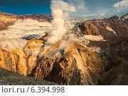 Купить «Активная фумарола на склонах кратера вулкана Мутновский на Камчатке», фото № 6394998, снято 30 августа 2014 г. (c) Александр Лицис / Фотобанк Лори