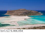 Пляж Балос у острова Грамвуса в Греции, вид сверху (2014 год). Стоковое фото, фотограф Елена Троян / Фотобанк Лори