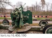 Калининград, Форт №5, старая пушка, эксклюзивное фото № 6406190, снято 12 апреля 2014 г. (c) Константин Косов / Фотобанк Лори