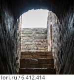 Купить «View of steps ascending from brick arch along wall at Jinshanling section of Great Wall Of China, Beijing, China», фото № 6412414, снято 26 августа 2012 г. (c) Ingram Publishing / Фотобанк Лори