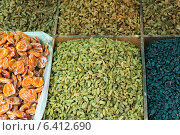 Купить «Varieties of dried fruit and nuts in market, Dong Dajie, Dunhuang, Jiuquan, Gansu Province, China», фото № 6412690, снято 13 августа 2012 г. (c) Ingram Publishing / Фотобанк Лори