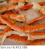 Купить «King Crab Legs on ice at a market stall, Pike Place Market, Seattle, Washington State, USA», фото № 6413186, снято 3 апреля 2013 г. (c) Ingram Publishing / Фотобанк Лори