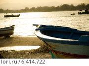 Лодка на закате. Стоковое фото, фотограф Степанченко Екатерина / Фотобанк Лори