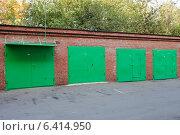 Купить «Металлические гаражи в Москве», фото № 6414950, снято 18 сентября 2014 г. (c) Victoria Demidova / Фотобанк Лори