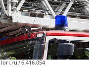 Проблесковые маячок на крыше пожарного автомобиля. Стоковое фото, фотограф Кекяляйнен Андрей / Фотобанк Лори
