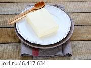 Большой кусок сливочного масла. Стоковое фото, фотограф Афанасьева Ольга / Фотобанк Лори