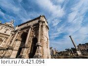 Купить «Ruins in ancient Roma on summer day», фото № 6421094, снято 21 марта 2014 г. (c) Elnur / Фотобанк Лори