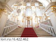 Санкт-Петербург. Эрмитаж.  Иорданская лестница (2014 год). Редакционное фото, фотограф Литвяк Игорь / Фотобанк Лори