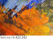 Абстрактный фон из масляных красок на палитре художника. Стоковое фото, фотограф V.Ivantsov / Фотобанк Лори