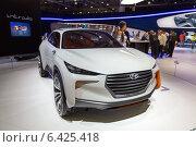 Купить «Hyundai Intrado Concept. Московский международный автомобильный салон 2014», эксклюзивное фото № 6425418, снято 29 августа 2014 г. (c) Сергей Лаврентьев / Фотобанк Лори