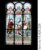 Церковный витраж, Бельгия. Стоковое фото, фотограф vansant natalia / Фотобанк Лори