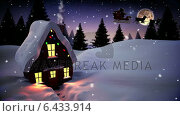 Купить «Seamless christmas scene with cottage and lights», видеоролик № 6433914, снято 23 августа 2019 г. (c) Wavebreak Media / Фотобанк Лори