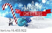 Купить «Seamless christmas scene with greeting», видеоролик № 6433922, снято 22 июля 2019 г. (c) Wavebreak Media / Фотобанк Лори