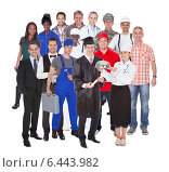 Купить «Lineup of business executives or partners», фото № 6443982, снято 12 августа 2012 г. (c) Андрей Попов / Фотобанк Лори