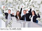 Купить «Portrait Of Happy Businesspeople», фото № 6445026, снято 12 мая 2013 г. (c) Андрей Попов / Фотобанк Лори