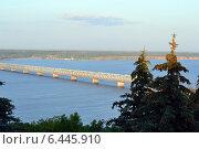 Императорский мост через Волгу (2014 год). Стоковое фото, фотограф СергейДорогов / Фотобанк Лори