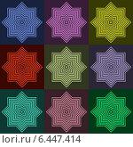 Купить «Коллаж из разноцветных фигур», иллюстрация № 6447414 (c) Илюхина Наталья / Фотобанк Лори