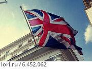 Купить «Флаг Великобритании на здании правительства», фото № 6452062, снято 13 сентября 2014 г. (c) Iakov Kalinin / Фотобанк Лори