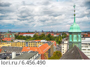 Купить «The view from the Round Tower in Copenhagen.», фото № 6456490, снято 22 августа 2014 г. (c) Serg Zastavkin / Фотобанк Лори