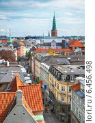 Купить «The view from the Round Tower in Copenhagen.», фото № 6456498, снято 22 августа 2014 г. (c) Serg Zastavkin / Фотобанк Лори