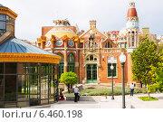 Купить «Hospital de la Santa Creu i Sant Pau in Barcelona», фото № 6460198, снято 13 сентября 2014 г. (c) Яков Филимонов / Фотобанк Лори