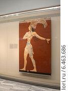 Купить «Фреска «Принц с лилиями» в археологическом музее в Ираклионе, Крит, Греция», эксклюзивное фото № 6463686, снято 22 июля 2014 г. (c) Алексей Гусев / Фотобанк Лори