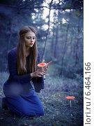 Купить «beautiful witch holding a mushroom», фото № 6464166, снято 11 сентября 2014 г. (c) Майя Крученкова / Фотобанк Лори