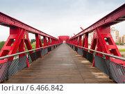 Footbridge over Ebre river. Tortosa (2014 год). Стоковое фото, фотограф Яков Филимонов / Фотобанк Лори