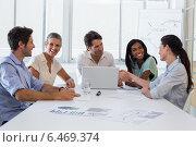 Купить «Attractive business people discussing at a meeting», фото № 6469374, снято 20 февраля 2019 г. (c) Wavebreak Media / Фотобанк Лори