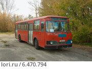 Купить «ЛиАЗ-677М», фото № 6470794, снято 28 сентября 2014 г. (c) Ельцов Владимир / Фотобанк Лори